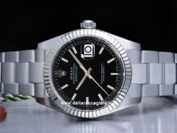Rolex Datejust Medio Lady 31 178274 Oyster Quadrante Nero