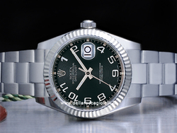 Rolex Datejust Medio Lady 31 178274 Oyster Quadrante Nero Concentrico Arabi