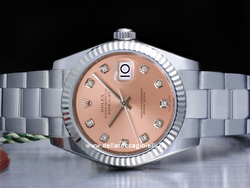 Rolex Datejust Medio Lady 31 178274 Oyster Quadrante Rosa Diamanti