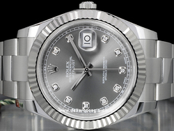 Rolex Datejust II 126334 Oyster Quadrante Rodio Scuro Diamanti