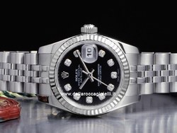Rolex Datejust Lady 179174 Jubilee Quadrante Nero Diamanti