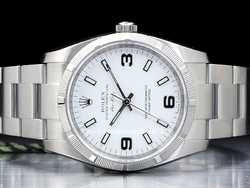 Rolex Air-King 114210 Oyster Quadrante Bianco Arabi 3-6-9