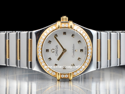 Omega Constellation My Choice Diamanti 13767100 Quadrante Bianco