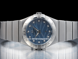 Omega Constellation Lady Quartz 12310276057001 Quadrante Blu Diamanti