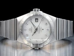 Omega Constellation Lady Co-Axial 12310312055001 Quadrante Bianco Diamanti