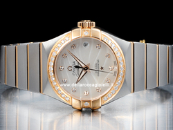 Omega Constellation Lady Co-Axial 12325272055005 Quadrante Bianco Diamanti