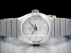 Omega Constellation Lady Co-Axial 12315272055003 Quadrante Bianco Diamanti