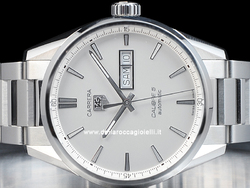 Tag Heuer Carrera Day-Date Calibre 5 WAR201B Quadrante Argento