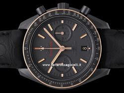 Omega Speedmaster Moonwatch Sedna Black Co-Axial Chronograph 31163445106001 Quadrante Grigio