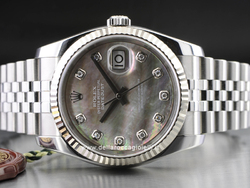 Rolex Datejust 126234 Jubilee Bracelet Black Motherpearl Diamonds Dial