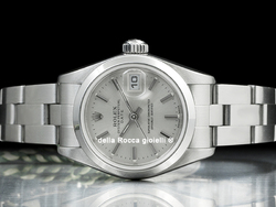 Rolex Date Lady 69160 Oyster Quadrante Argento