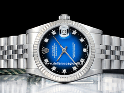 Rolex Datejust Medio Lady 31 68274 Jubilee Quadrante Blu Degrade Diamanti