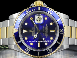 Rolex Submariner Data 16613 Oyster Quadrante Blu Purple