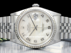Rolex Datejust 16234 Jubile Quadrante Madreperla Arabi