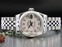 Rolex Datejust Lady 179174 Jubilee Quadrante Madreperla Diamanti