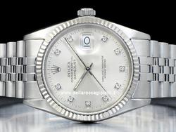 Rolex Datejust 16014 Jubilee Quadrante Argento Diamanti