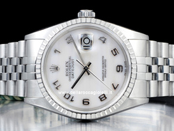Rolex Datejust 16220 Jubile Quadrante Madreperla Arabi