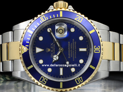 Rolex Submariner Data 16613 SEL Oyster Quadrante Blu