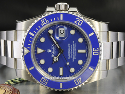 Rolex Submariner Date White Gold Watch - 116619LB Ceramic Bezel Blue Dial