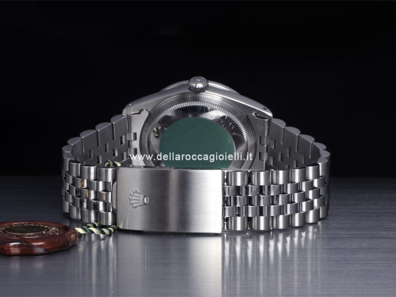 Rolex Datejust 16234 Jubilee Bracelet Blue Dial Diamond Bezel