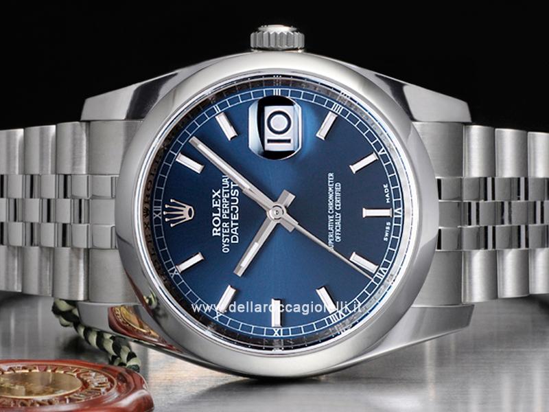Rolex Datejust 126200 Jubilee Bracelet Blue Dial Della Rocca Gioielli