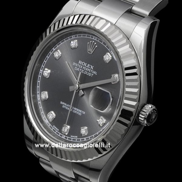 Rolex Datejust Ii 126334 Oyster Bracelet Dark Rhodium