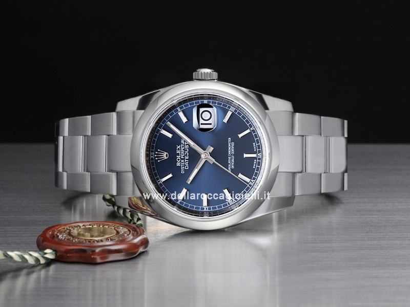 Rolex Datejust 126200 Oyster Bracelet Blue Dial Della