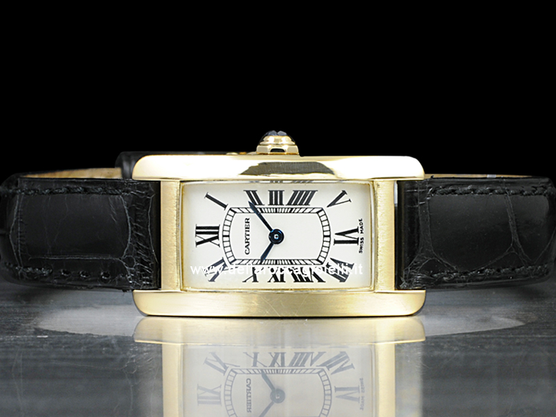 buy popular 24a1d 7b448 Cartier Tank Americaine Lady SM W2601556 Gold Watch Silver ...